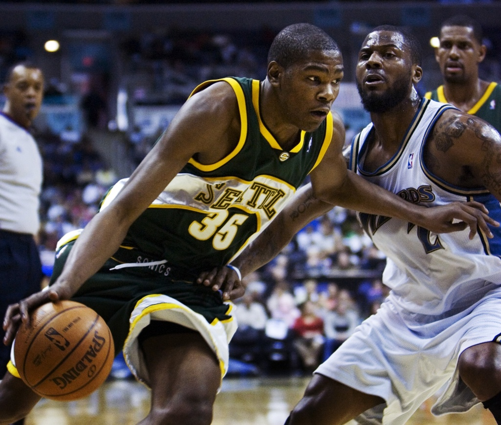 6032430fdbb Kevin Durant was Rookie of the Year in 2007-08 after the Seattle  SuperSonics took